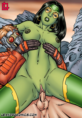 Goodcomix Guardians of the Galaxy - [Leandro Comics] - Gamora Bounces On Star Lord's Hard Cock!