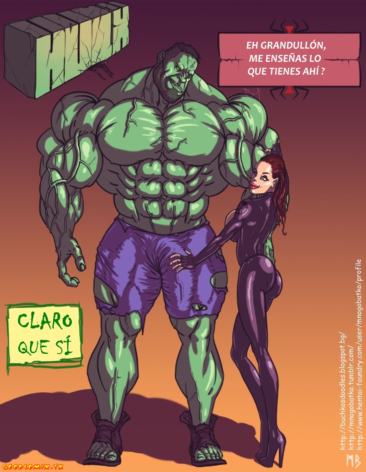 Goodcomix.tk The Avengers - [Mnogobatko] - Hulk vs Black Widow