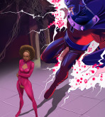 Marvel Universe & Marvel Comics - [Online SuperHeroes] - Magneto and Misty Knight Get Interracial!