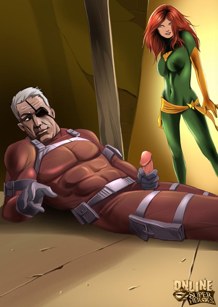Goodcomix.tk [Online SuperHeroes] - Nick Fury Deposits a Sticky Creampie on The Gaping Asshole of Phoenix!