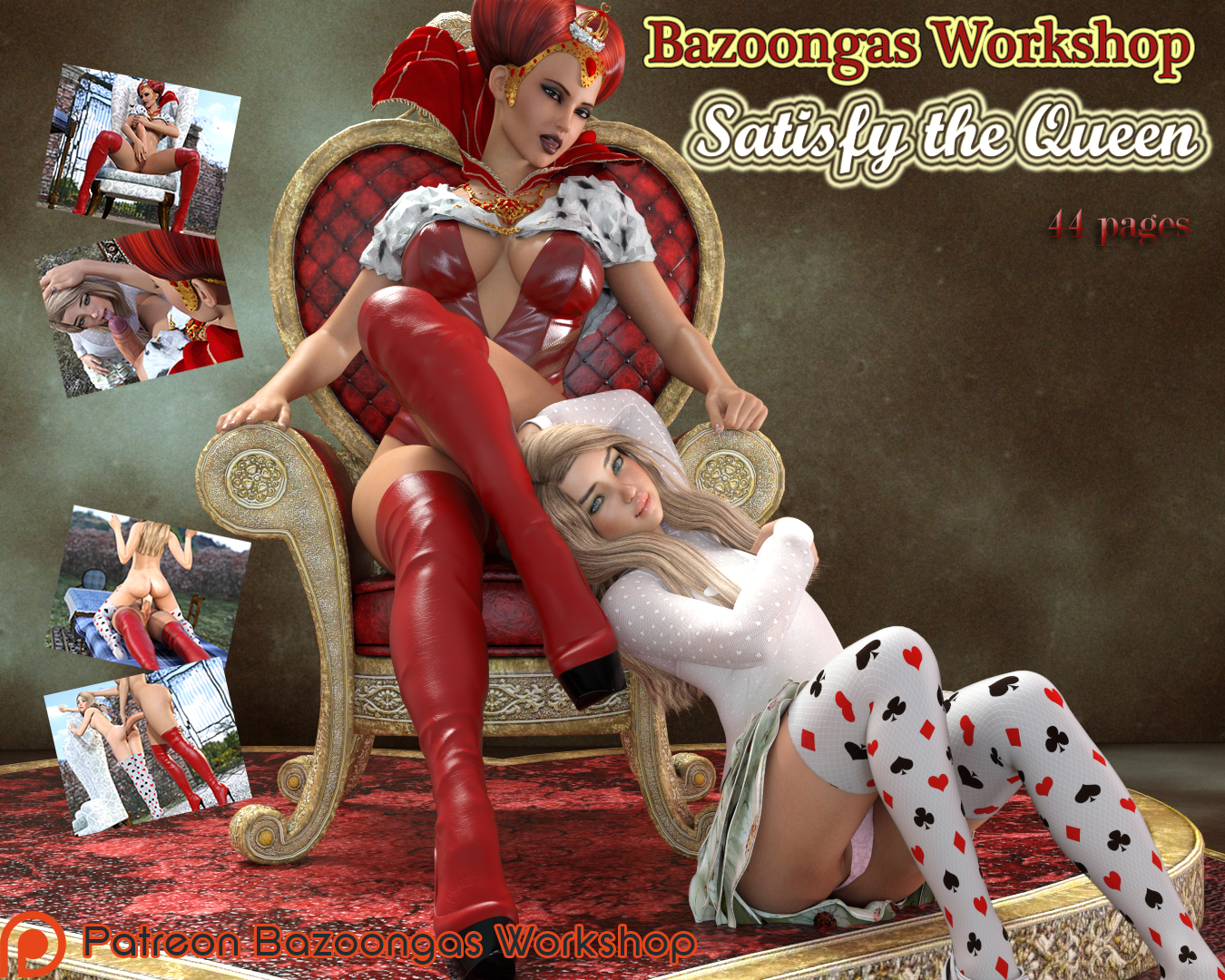 Goodcomix.tk Alice in Wonderland - [Bazoongas Workshop][3D] - Satisfy the Queen