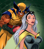 X-Men - [Online SuperHeroes] - Storm Gets a Messy Facial From Wolverine