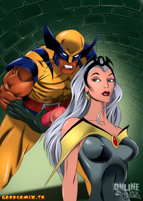 Goodcomix X-Men - [Online SuperHeroes] - Storm Gets a Messy Facial From Wolverine