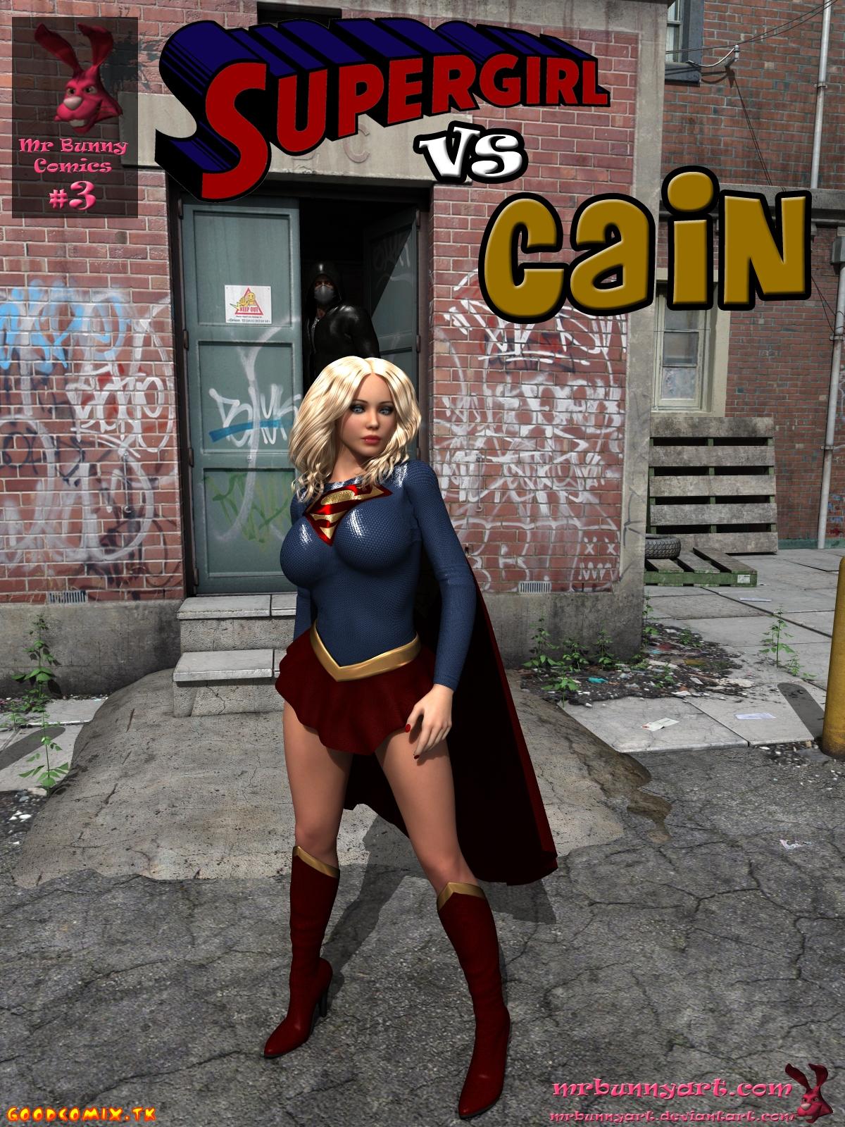 Goodcomix.tk Superman - [MrBunnyArt] - Supergirl Vs Cain