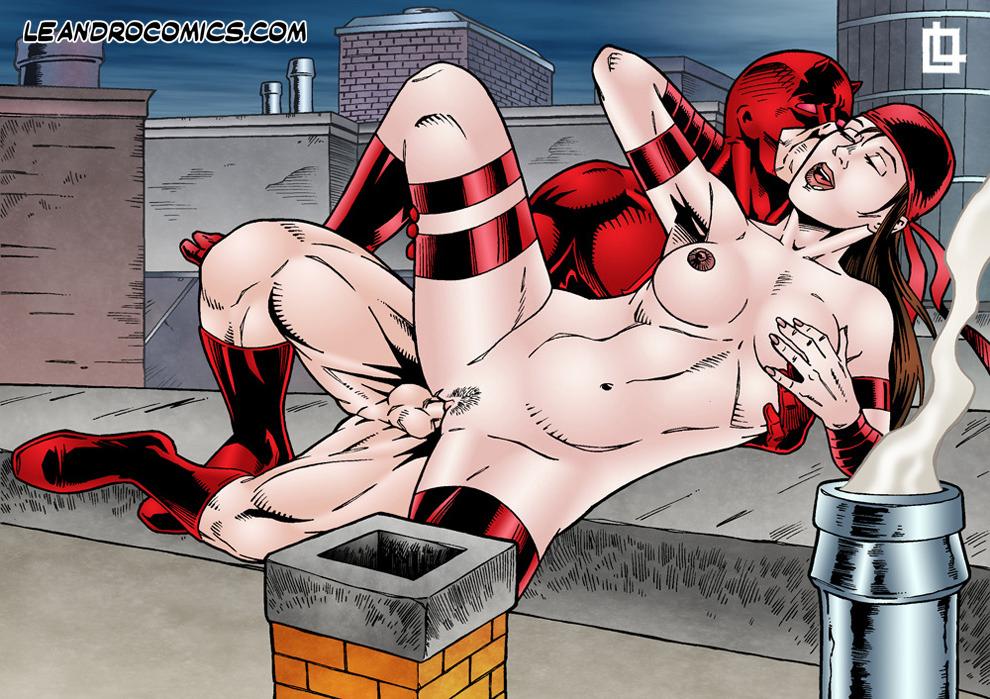 Goodcomix.tk Daredevil - [Leandro Comics] - Daredevil Fucks Elektra On a Rooftop