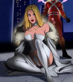 Crossover Heroes - [Online SuperHeroes] - Emma Frost Gets Anal And A Facial From Adam Strange