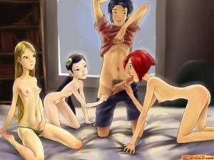 Goodcomix WITCH - [Comics-Toons] - W.I.T.C.H. Anal Orgy