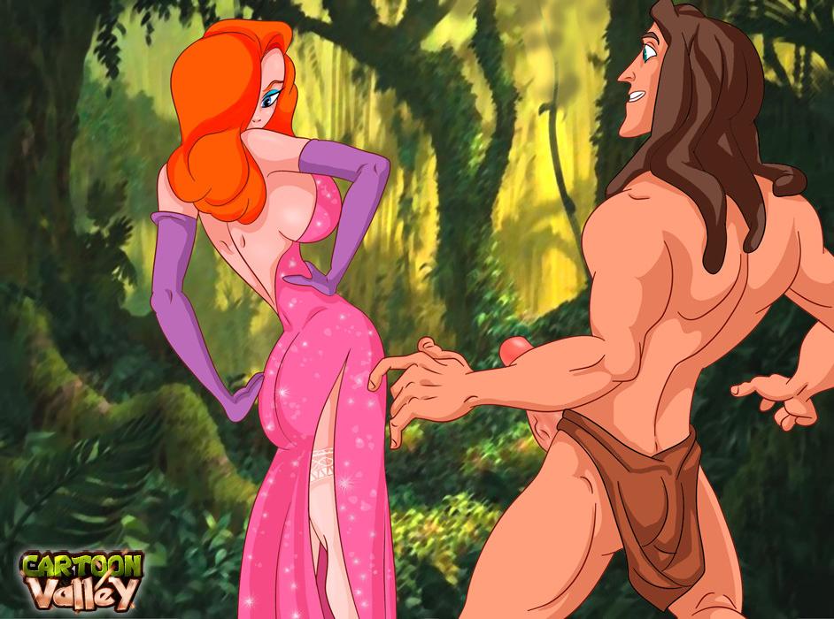 Goodcomix.tk Crossover - [CartoonValley][NEW][TitFlaviy] - Jessica Rabbit Wild Sex With Tarzan