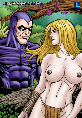 Goodcomix Crossover Heroes - [Leandro Comics] - Shanna Enjoys the Phantom's Huge Cock and Milky Cum
