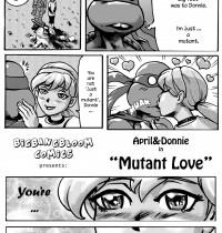 Teenage Mutant Ninja Turtles — [bigbangbloom] — April & Donni in Mutant Love