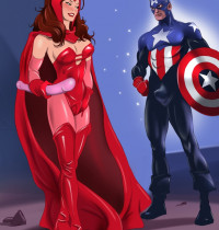 Justice League — [Online SuperHeroes] — Scarlet Witch and Captain America xxx porno