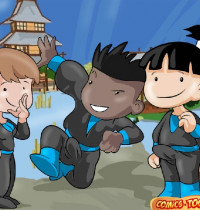 Shuriken School — [Comics-Toons] — Daily Training