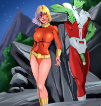 The Teen Titans — [Online SuperHeroes] — Terra Having Hot Outdoors Sex With Beast Boy!