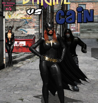 Batman — [MrBunnyArt] — Comics #4 — Batgirl vs Cain