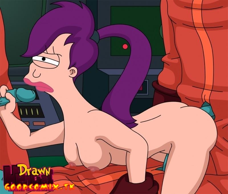 Goodcomix Futurama - [Drawn Hentai] - Cubert Farnsworth and Aliens Fuck Leela xxx porno