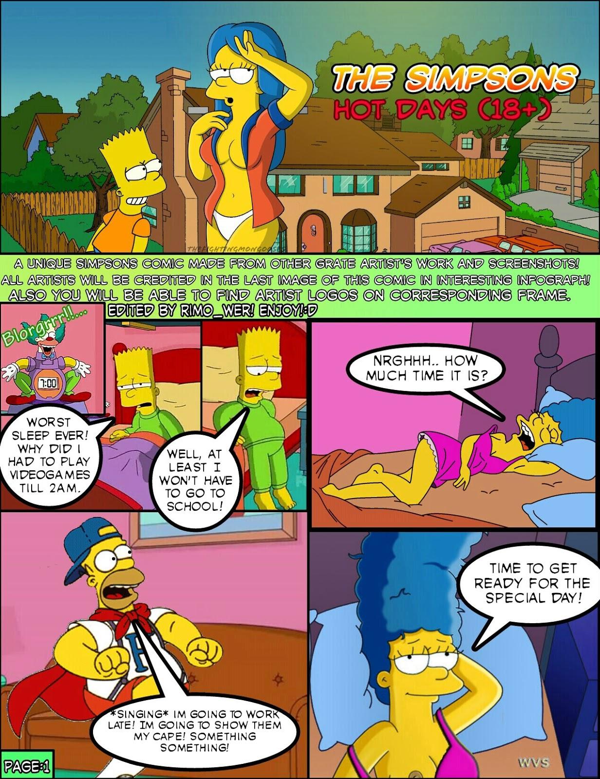 Goodcomix The Simpsons - Hot Days.1 (Needs final touches) xxx porno