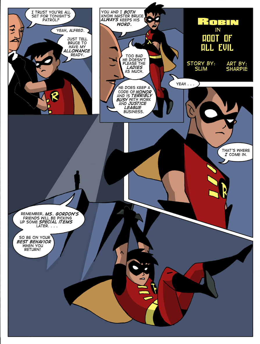 Goodcomix Justice League - The Teen Titans - Robin in Root of All Evil xxx porno
