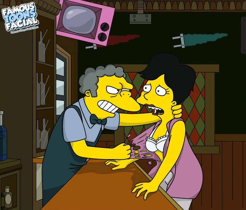 Goodcomix The Simpsons - [Famous Toons Facial][acme] - Moe Fucks Betty At The Bar