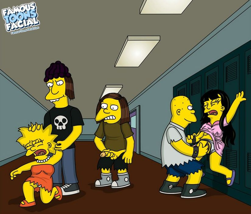 Goodcomix The Simpsons - [Famous Toons Facial] - Rape Jessica Lovejoy and Lisa at school xxx porno