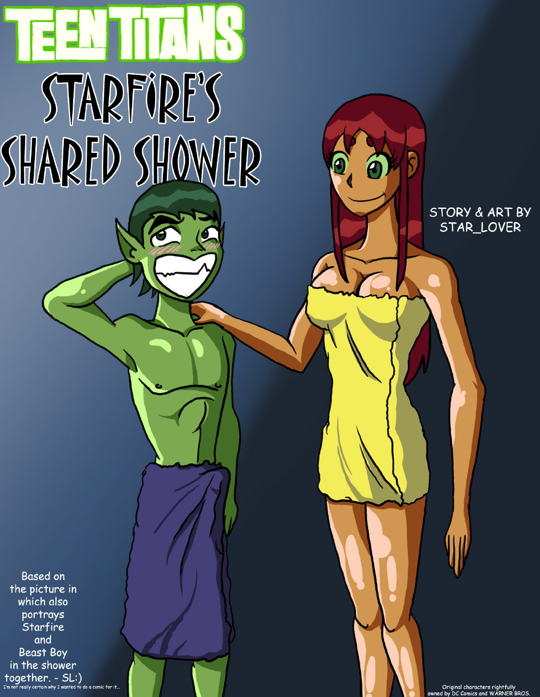 Goodcomix The Teen Titans - [Star_Lover] - Starfire's Shared Shower xxx porno