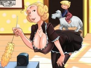 Goodcomix Dennis The Menace - Real Maid xxx porno