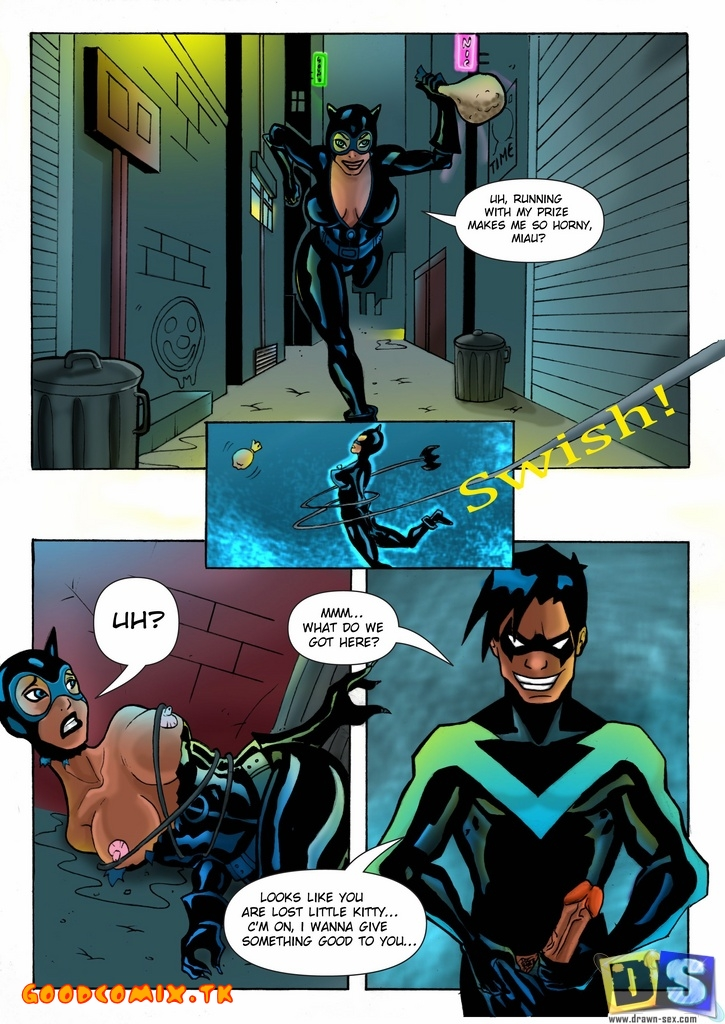 Goodcomix Justice League - [Drawn-Sex] - Nightwing and Catwoman