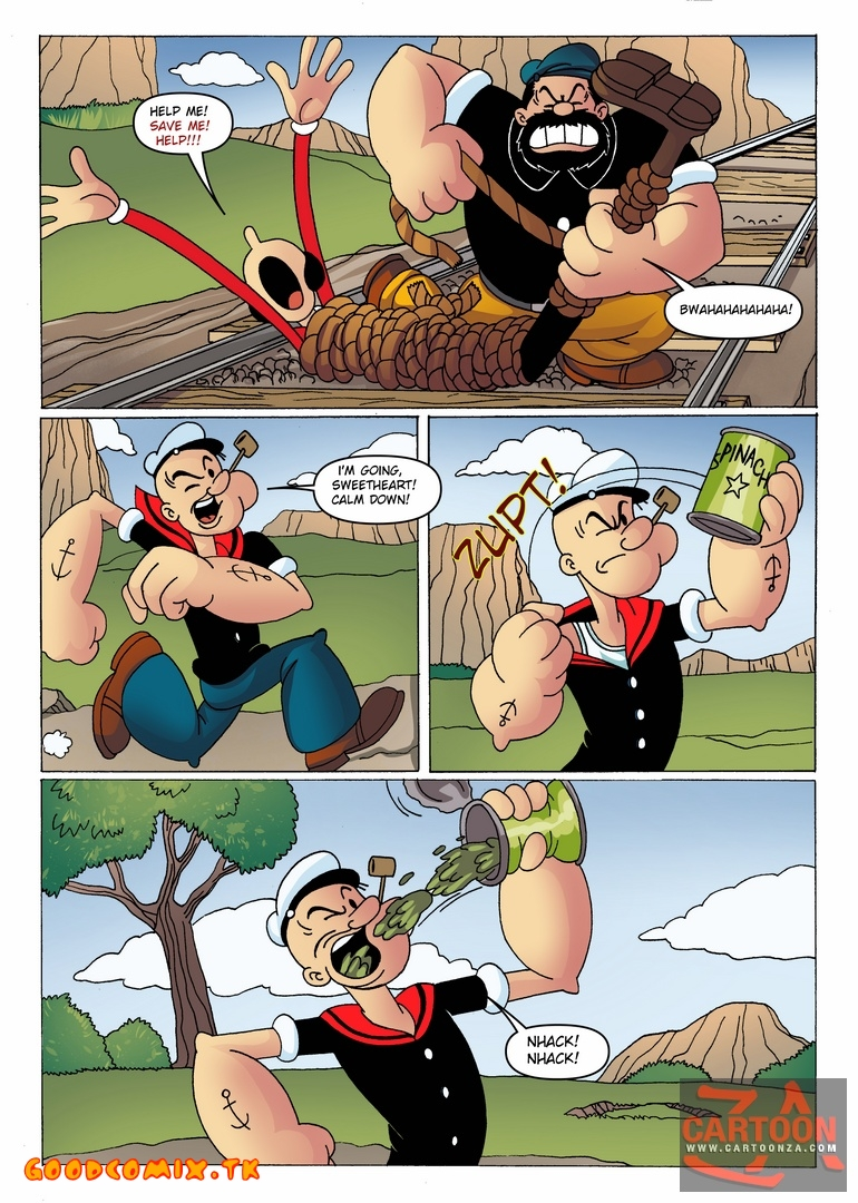 Goodcomix Popeye The Sailor - [Cartoonza] - The Story of The Train