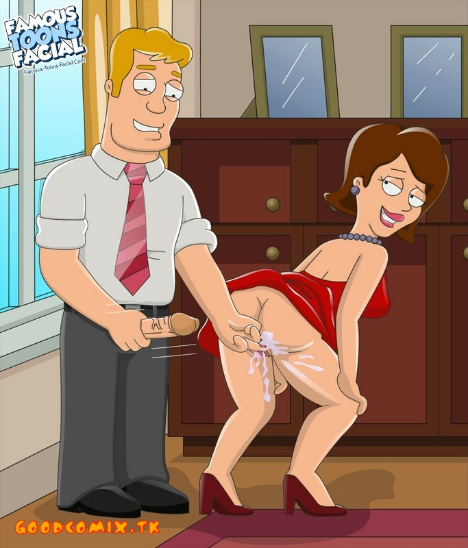 Goodcomix American Dad - [Famous Toons Facial] - Chuck White & Christie White