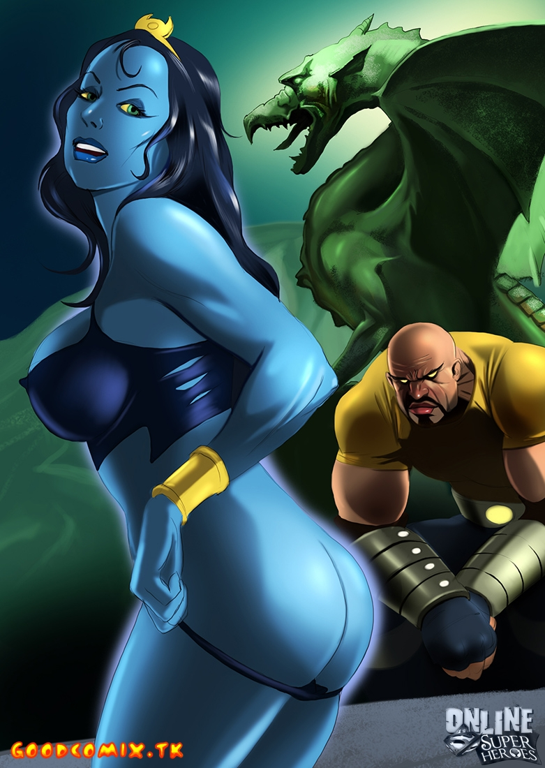 Goodcomix Marvel Universe - [Online SuperHeroes] - Shadow Lass gives her fine piece of ass to Luke Cage