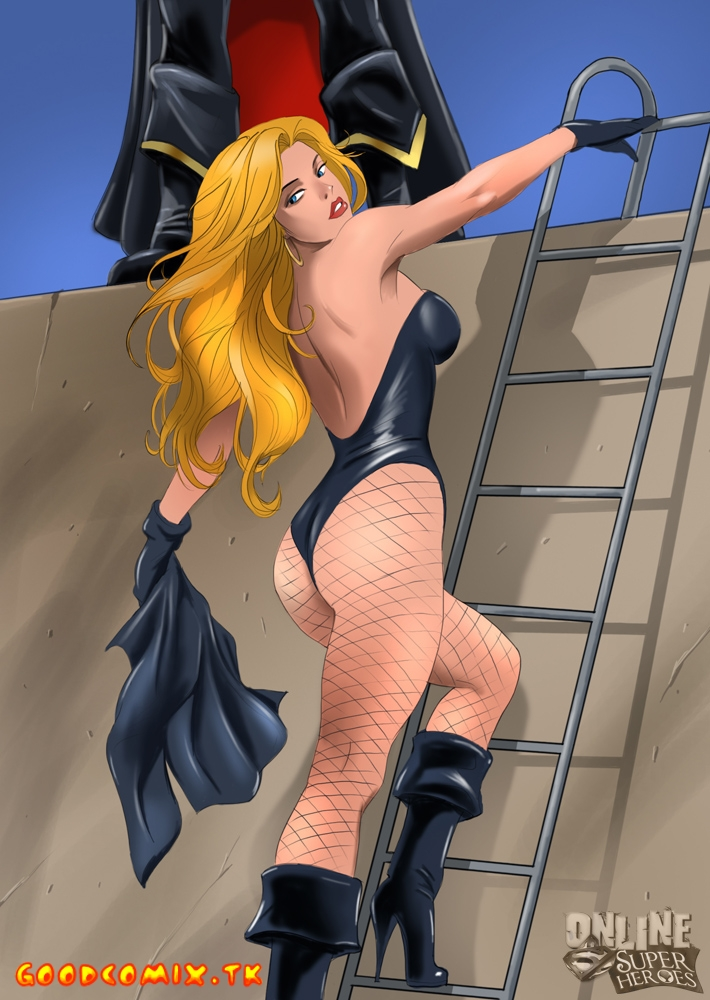 Goodcomix Justice League - [Online SuperHeroes] - Black Canary Takes On The Horny Black Terror