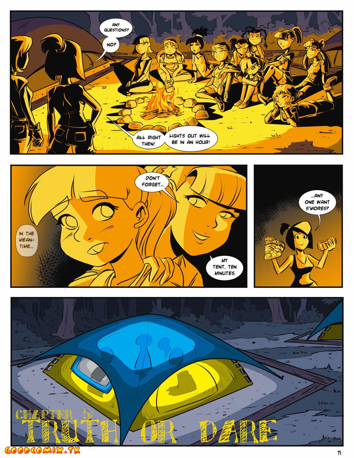 Goodcomix Crossover - [Mr.D] - Camp Sherwood - Ch.5 - Truth Or Dare