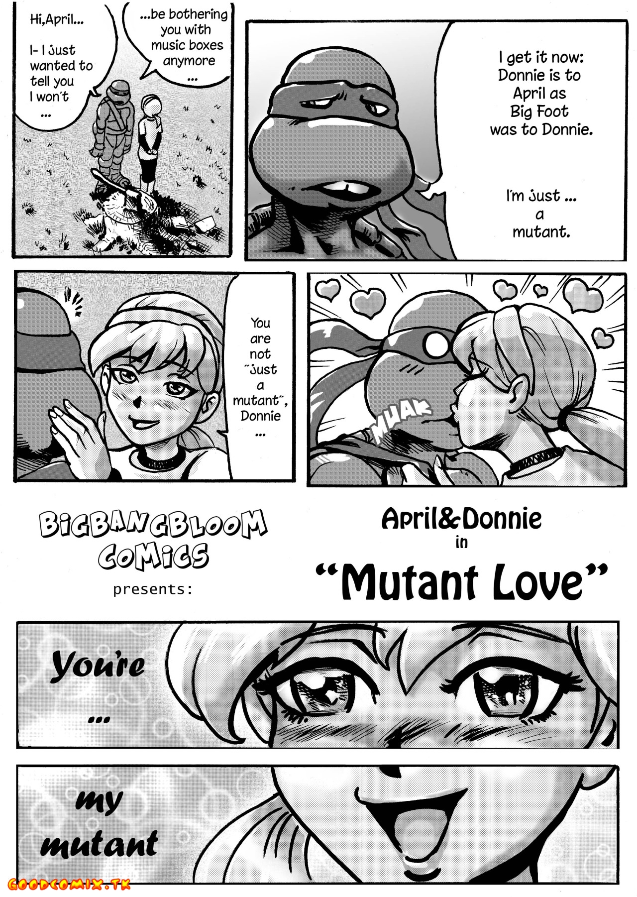 Goodcomix Teenage Mutant Ninja Turtles - [bigbangbloom] - April & Donni in Mutant Love
