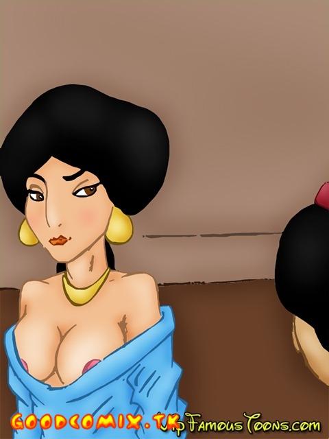 Goodcomix Aladdin - [VIP Famous Toons] - Aladdin and Jasmine Hard SEX (V1 and V2)