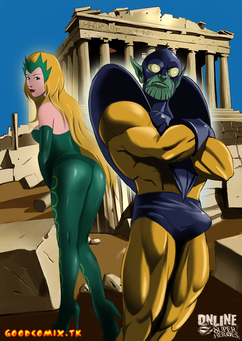 Goodcomix Crossover Heroes - [Online SuperHeroes] - The Enchantress Enjoys Kinky Sex With Skrull Criti Noll