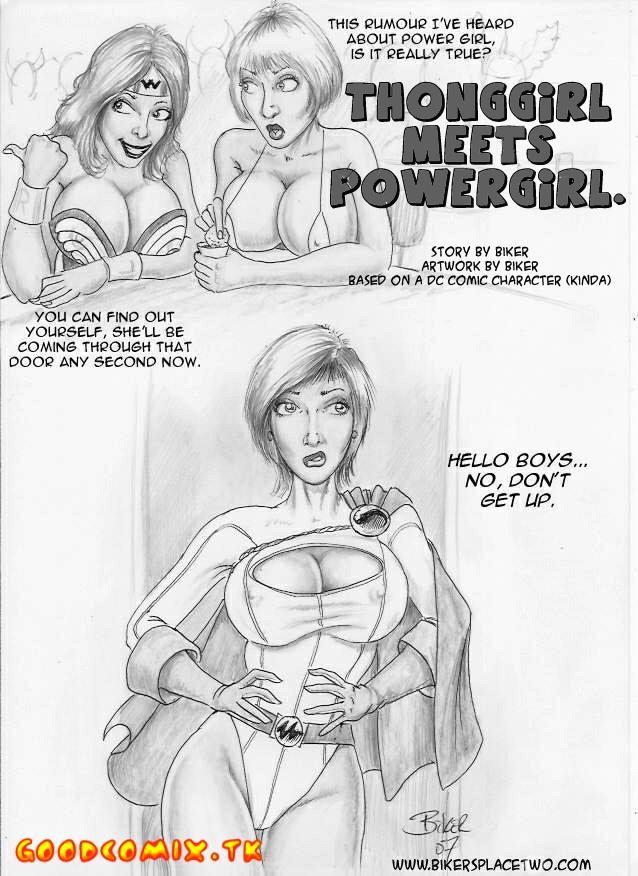 Goodcomix DC Comics - [Biker Bloke] - Thong Girl Meets Power Girl