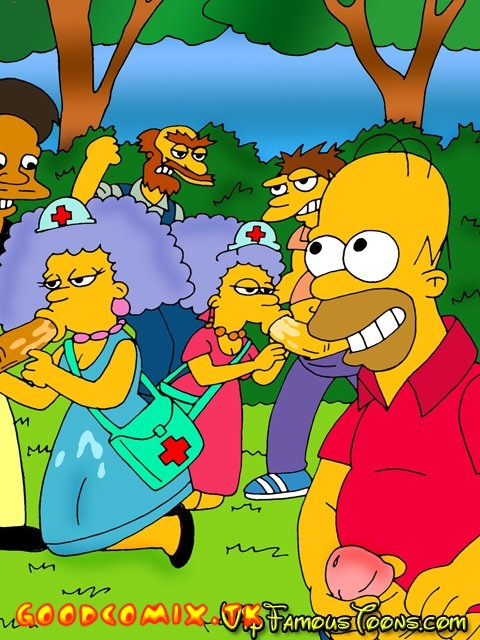 Goodcomix The Simpsons - [VIP Famous Toons] - Presents Twin Sisters Bouvier