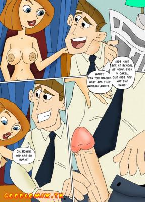Goodcomix Kim Possible - [CartoonValley][Comic] - Kim Masturbates Watching Mom And Dad Fuck!