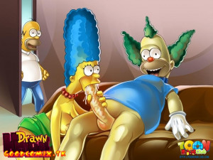 Goodcomix The Simpsons - [Drawn Hentai][ToonFanClub] - Porno Orgy In The House Simpsons (two colors)