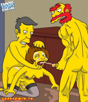 Goodcomix The Simpsons - [Famous Toons Facial][acme] - Willie with Skinner fucks Edna Krabappel