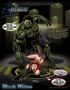 Goodcomix The Avengers - [Smudge] - Black Widow Vs The Hulk