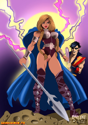 Goodcomix Crossover Heroes - [Online SuperHeroes] - Vibe and Valkyrie Is Hot Hardcore Sex Action