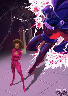 Goodcomix Marvel Universe & Marvel Comics - [Online SuperHeroes] - Magneto and Misty Knight Get Interracial!