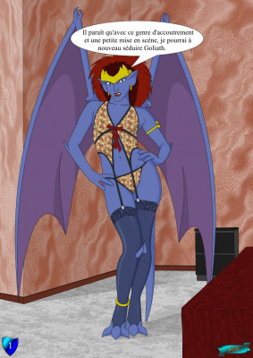 Goodcomix Gargoyles - [Fab3716] - Demona Poses in Sexy Lingerie