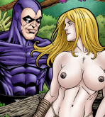 Crossover Heroes - [Leandro Comics] - Shanna Enjoys the Phantom's Huge Cock and Milky Cum
