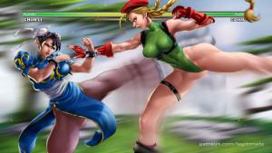 Goodcomix Street Fighter - [Legitimate] - Chun-Li x Cammy