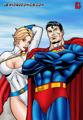 Goodcomix Superman - [Leandro Comics] - Power Girl Gets Drilled by Superman's Dick of Steel!