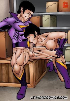 Goodcomix DC Comics - [Leandro Comics] - Zan Bangs Jayna's Ass and Fills Her Mouth With Cum (Wonder Twins)