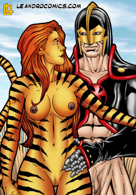Goodcomix Marvel Universe & Marvel Comics - [Leandro Comics][Gallery66] - Tigra Gets Wild And Kinky With The Black Knight's Meat Sword