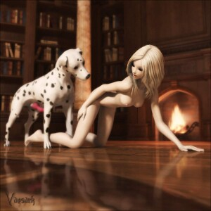 Goodcomix 101 Dalmatians - [Vaesark] - Blond Girl and Pongo