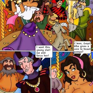 The Hunchback of Notre-Dame - [CartoonValley][Comic] - Esmeralda fucks the Hunchback and his gargoyles